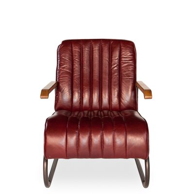 Bel-Air Arm Chair Upholstery: Red