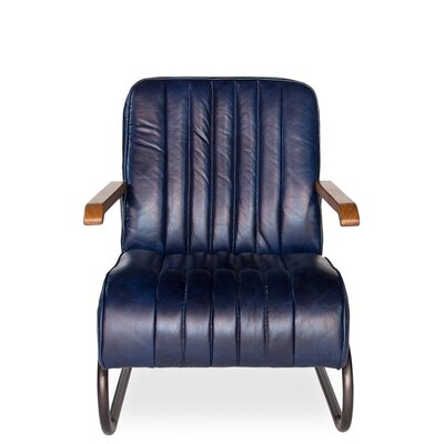 Bel-Air Arm Chair Upholstery: Blue
