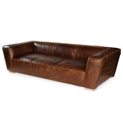Rough Hewn Leather Sofa