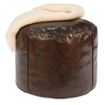 Soccer Ball Leather Pouf
