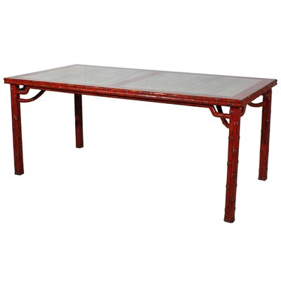 Classic Marble Chinese Coffee Table Base Color: Red