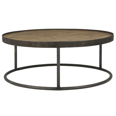 Rimmed Metal Coffee Table