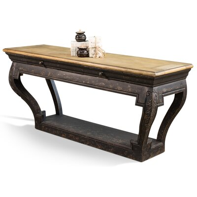 Scott Carved Wall Console Table
