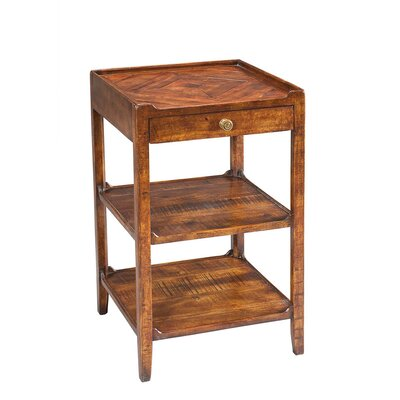 Triple Shelf Occasional End Table