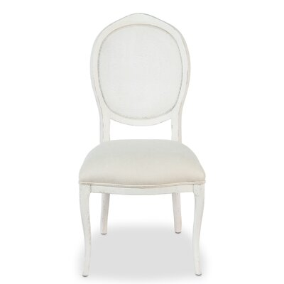 Abrella Oval Back Side Chair (Set of 2) Color: White