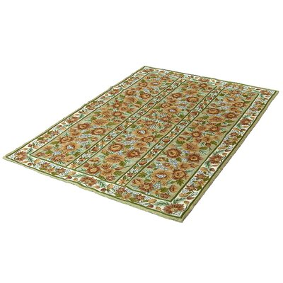 Floral Green Area Rug