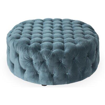Manda Ottoman Upholstery: Teal