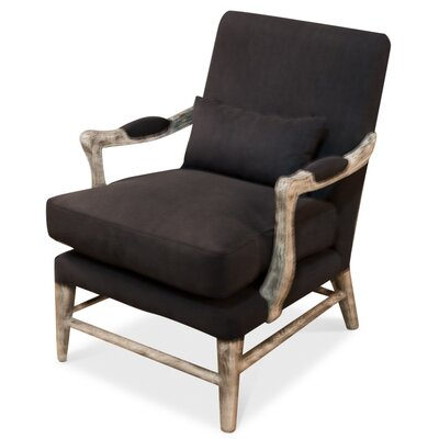 Palmer Arm Chair Upholstery: Misty Black
