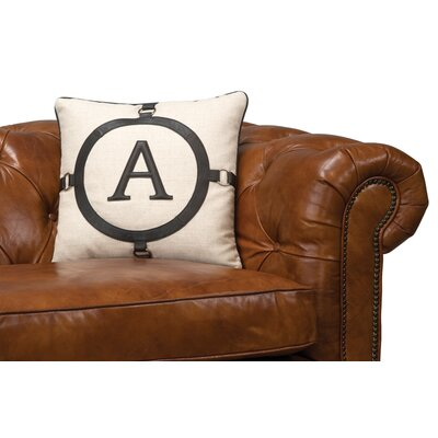 A Leather Throw Pillow