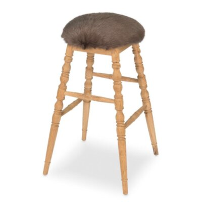 Winoma 30 Bar Stool Upholstery: Brown