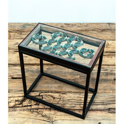 Antique Window Framed End Table