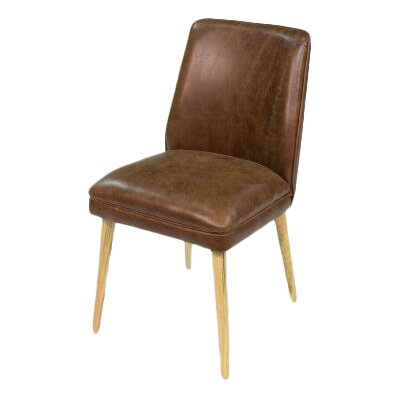 Metro Genuine Leather Upholstered Dining Chair