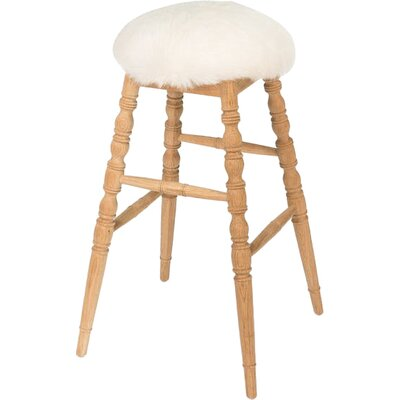 Winoma 30 Bar Stool Upholstery: White