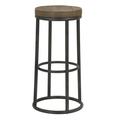 New York Round Metal 30 Bar Stool