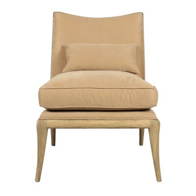 Slipper Chair with Ottoman