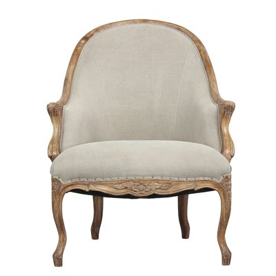Leslie Salon Armchair Upholstery: Rock Gray