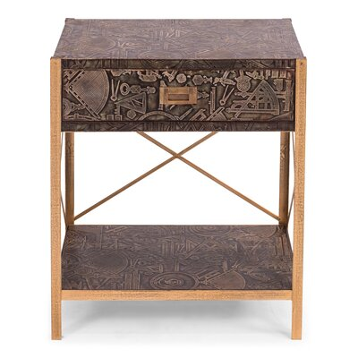 Galileo Chest On Stand End Table with Storage
