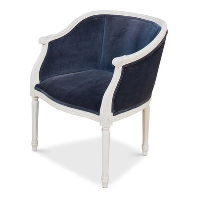 Pull Up Simple Stucco Uniform Barrel Chair