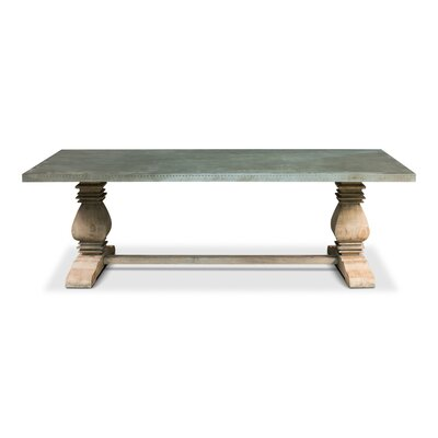 French Zinc Dining Table