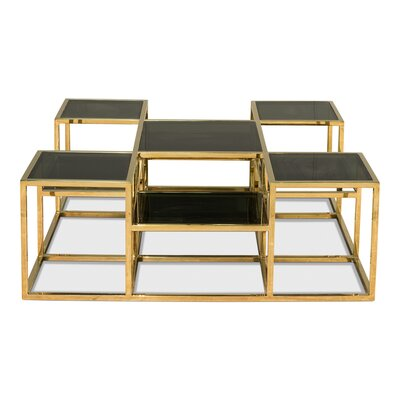 Taylor Coffee Table with Nested Stools
