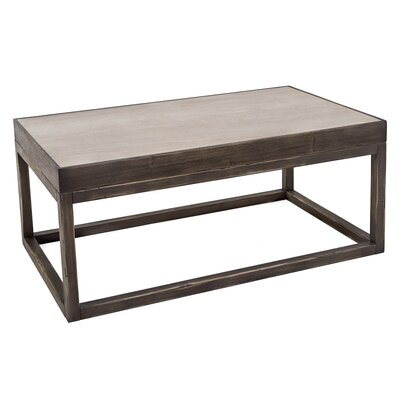 Coffee Table with Inset Travertine Top