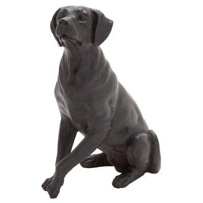 Polystone Sitting Dog Figurine 44715