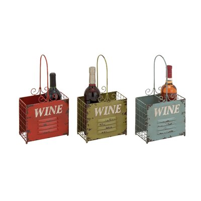 Rustic 2 Bottle Tabletop Wine Rack