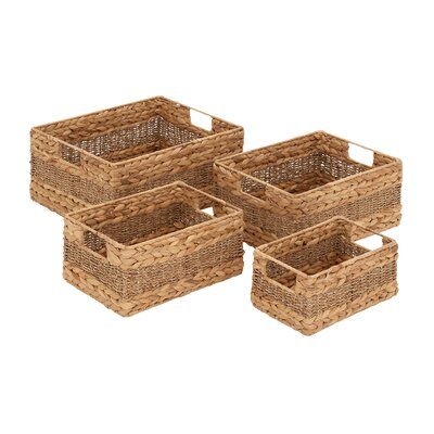 Creative Styled Fascinating 4 Piece Sea Grass Basket Set