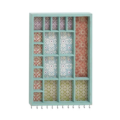Woodland Imports Beautiful Well Designed Wood Wall Mounted Jewelry Holder at Sears.com