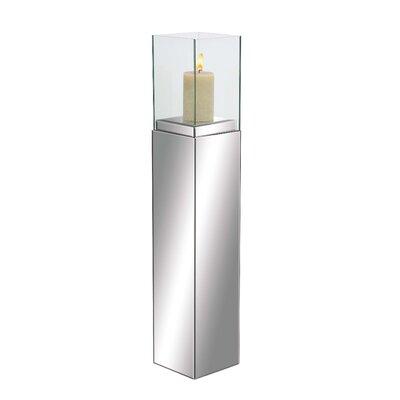Woodland Imports Marvelous Wood Mirror Candlestick 87235
