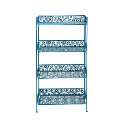 Metal �tag�re Bakers Rack Finish: Blue