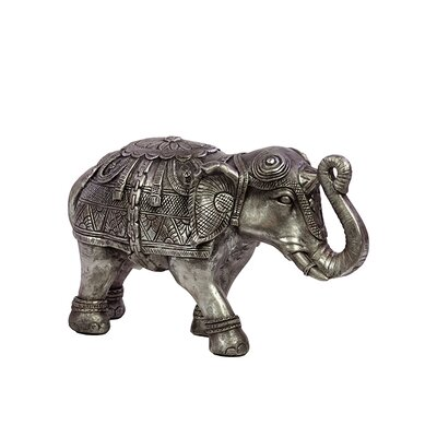 Beautifully Decorated Resin Elephant Figurine Size: Small BRU-876060