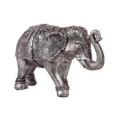 Beautifully Decorated Resin Elephant Figurine Size: Large BRU-876072
