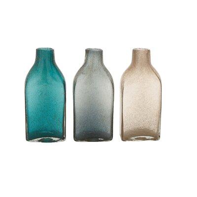"""Glass Bottle Table Vase Size: 11"""" H x 6"""" W x 4"""" D 99801"""