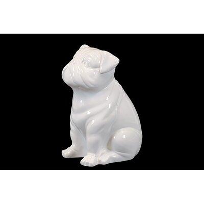 Attentive Ceramic Sitting Bull Dog Figurine BRU-559680