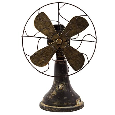 Woodland Imports Traditional Resin Table Fan