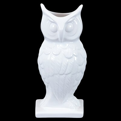 Mesmerizing Hooting Ceramic Owl Figurine BRU-845556