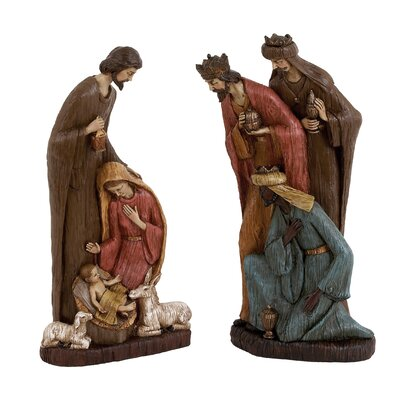 2 Piece Nativity and Three Wise Men Set