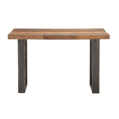 Simply Natural Wood Metal Console Table