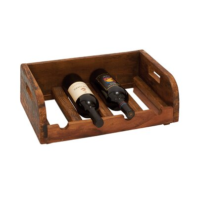 Grand and Polished 4 Bottle Tabletop Wine Rack