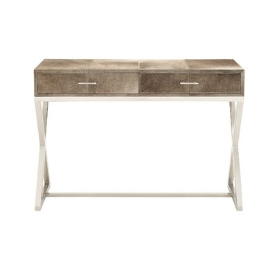 Lovely Exquisite Console Table Color: Gray / Black