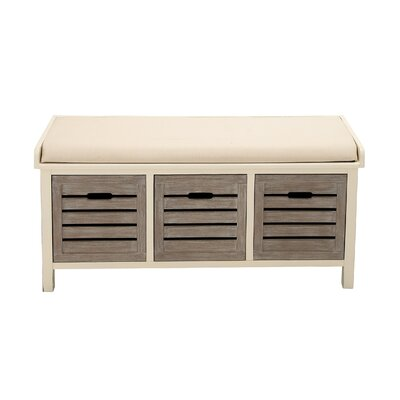 Wood Storage Bedroom Bench Color: Gray