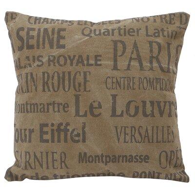 Cotton Throw Pillow Color: Brown