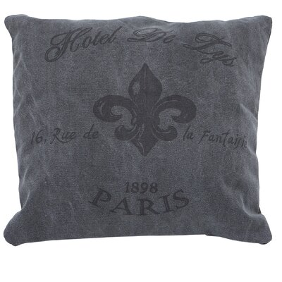 Cotton Throw Pillow Color: Grey