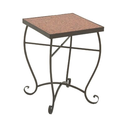 Mosaic End Table Finish: Red