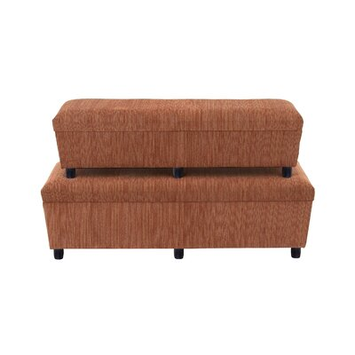 2 Piece Splendid Upholstered and Wood Bedroom Bench Set