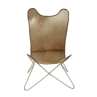 Comfortable Leather Side Chair Frame Finish: Brown