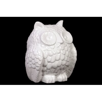 Elegant and Stout Ceramic Hooting Owl Figurine BRU-876192