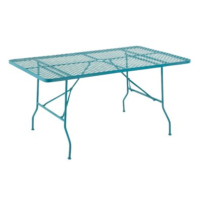 Dining Table Table Size: 60 L x 36 W, Finish: Blue