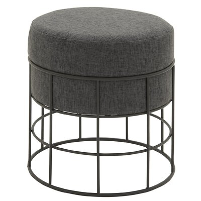 Ottoman with Cushion Fabric: Gray